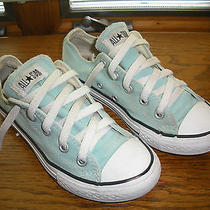 Converse Chuck Taylor All Stars Unique Low Cuts Girls Rare Teal Canvas Size 13  Photo