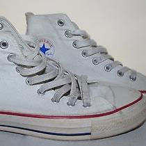 Converse Chuck Taylor Allstar  White Sneaker Shoes M8   L10 Made in Usa Photo