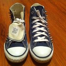 Converse Chuck Taylor Hi Top Sneakers Custom Studded Dark Blue - Awesome  Photo