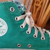 Converse Chuck Taylor High Top Lime Green Sneaker Shoe Girls Kids Size 2 Custom Photo