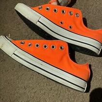 Converse Chuck Taylor Low Orange All-Star Sneakers/shoes Mens 7 /womens 9 Photo