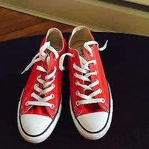 Converse Chuck Taylor Red/white Low Top  Canvas - Great Condition Photo