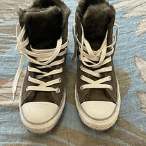 Converse Chuck Taylor Suede and Fur High Top Sneaker Womens Grey Athletic Size 8 Photo