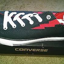 Converse Ct Ox - Boltz Youth Size 5 -Black Red Lightning Bolt - New Nib Photo