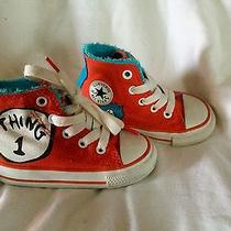 Converse Dr. Seuss All-Stars (Infant 5) Chuck Taylor's the Thing 1 Thing 2 Shoes Photo