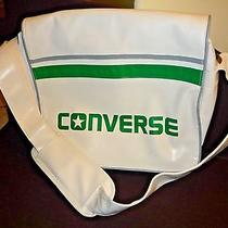 Converse Flat Zip Sport Unisex Messenger / Shoulder / Laptop Bag White and Green Photo