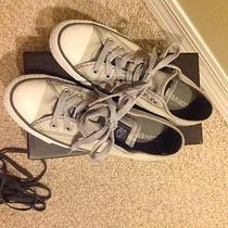 Converse Gray and Silver Women's Sneakers Size 8 Photo