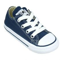 Converse Infants Navy Lace All Star Classic Sneakers  Infants Size 4 Photo