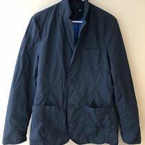 Converse Jack Purcell Mens Size Medium Dark Blue 2 Botton Nylon Jacket Euc Photo