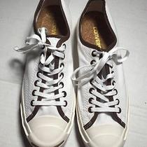 Converse Jack Purcell White Sneakers Gum Soles Cork Insoles M 8.5 W 10 Photo