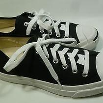 Converse Jack Purcell Women's Canvas Black Sneakers Size 8.5 Euc Photo