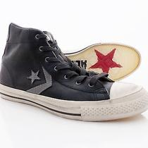 Converse John Varvatos Black Leather Shoes Size 9  New Star Player Mid Photo