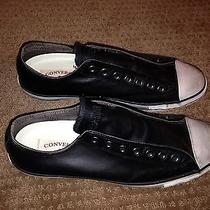 Converse John Varvatos Leather Shoes Size 11 Black New Photo