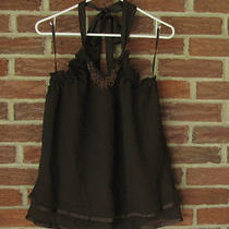 Converse John Varvatos Nwt Women's Brown Halter Top Size M Photo