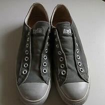 Converse Laceless Low Grey Leather Sneakers Like John Varvatos Wo Sz 11.5 M 9.5 Photo