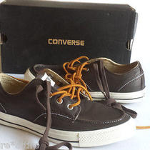Converse Leather Casual Shoes Size 8 Brown New With Box (Two Set of Shoelaces )  Photo
