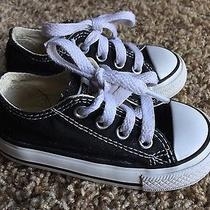 Converse Low Top Black Toddler 5 Shoes Sneakers Euc Photo