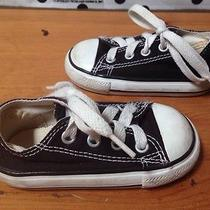 Converse Low Top Black Toddler Boys Girls Child Casual Baby Sneakers Shoes 4 Photo