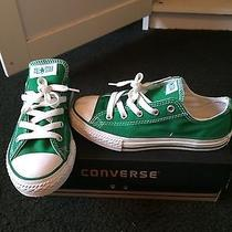 Converse Low Top Chuck Taylor Green Size 2 Youth Photo