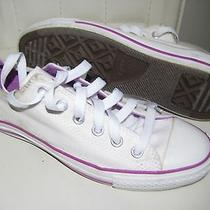 Converse Low Top Pink and White Size 7 M Used  Photo