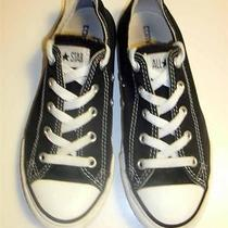 Converse Low Top Shoes Black Youth Sz 2 Photo