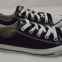 Converse Low Tops Black Size 2-Good Condition  Photo