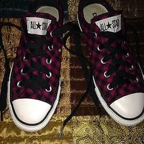 Converse Low Tops - Hot Pink and Black Punk Rock Roller Derby Photo