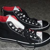 Converse Men Custom All Star Chuck Taylor Hi Top Sneakers Black White Size 11.5 Photo