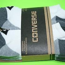 Converse Men's Cushioned Low Cut Socks 6 Pairs White-Gray Photo