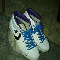 Converse Mid White/purple Mens Sneaker Sz Us11 Photo
