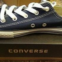 Converse Navy Blue Low Top Youth Size 3 New With Box Photo
