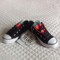 Converse No Tie Black With Rainbow Net Soes Brand New Size 11 Child Photo