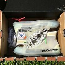 Converse Off-White Chuck Taylor All-Star Vulcanized Og Size 7 100% Authentic Photo