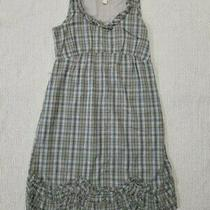 Converse One Size Blue and Gray Cotton Plaid Dress Womens Size 6 New Photo