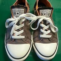 Converse One Star Gray Helmet Skull Lightning Bolts  Shoes - Juniors 6 Photo