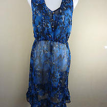 Converse One Star  Multi-Color See-Through Sleeveless Dress Women Sz L Photo