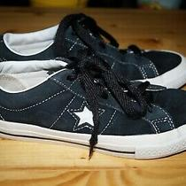 Converse One Star Ox Black Suede Skate Shoes Sneakers Youth Boys Size 3 Photo