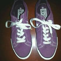Converse One Star Purple Suede Low Tops Womens 6.5 Photo