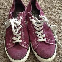 Converse One Star Purple Suede Low Tops Womens 7.5 Photo
