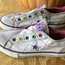 Converse One Star Shoes Sneakers Vintage Girls Size 3 Never Worn. White Slip On Photo