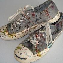 Converse Paint Splatter Tennis Shoes Lk Photo