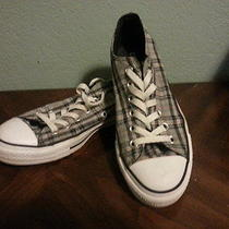 Converse Plaid Low Top Shoe  Size 5 Photo