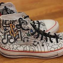 Converse Power of Art Sneakers by Anthony Arias Piano Keys Chuck Taylor Size 7 Photo