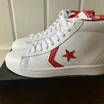 Converse Pro Leather Mid White/varsit Athletic Sneakers 136760c Size Us 8 Photo