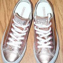 Converse Rose Gold Leather Chuck Taylor Sneakers Shoes 39 Mens 6 Womens 8 Nice Photo