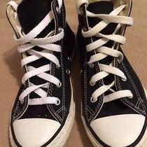 Converse Shoes All Star Canvas Athletic Sneakers Black Hi Top Youth Size 1 Photo