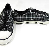Converse Shoes Chuck Taylor Ox All Star Plaid Black/gray Sneakers Men 5 Wo 7 Photo