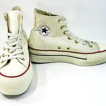 Converse Shoes Chuck Taylor Platform Zip Hi Eg White/gold Sneakers Womens 6 Photo