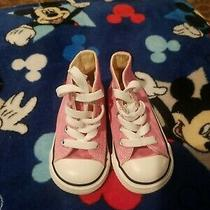 Converse Shoes Infant Toddlers Babies Chuck Taylor All Star Pink Hi Top Sneaker Photo