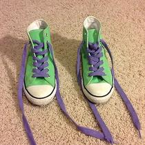 Converse Shoes Neon Green Punk Rock Size 3 Euc Photo